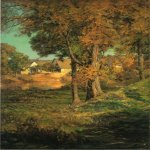 John Ottis Adams (1851-1927)  Thornberry's Pasture Brooklyn, Indiana  Oil on canvas, 1904  29 x 22 inches (73.66 x 55.88 cm)  Indianapolis Museum of Art